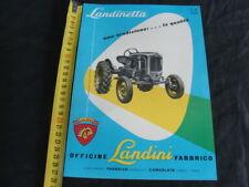 PAGINA PUBBLICITARIA TRATTORE LANDINI LANDINETTA FABBRICO BROCHURE OLD TRACTOR