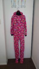 Paul Frank Women's Hooded Footed Pajamas Bodysuit Monkey Ears Size XL