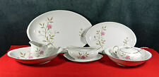 """27-PCS (OR LESS) OF MEITO """"JUNE ROSE"""" PAT FINE CHINA - (SEVEN ARE SERVING PCS)"""