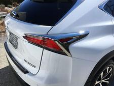 For Lexus NX200t NX300h 2015-2018 ABS Chrome Taillight Rear Lamp Cover Trim 4pcs