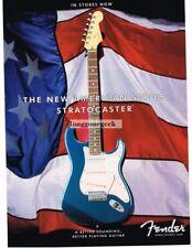 2000 FENDER American Series STRATOCASTER Guitar AMERICAN FLAG Vtg Print Ad