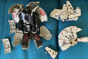 Transformers Star Wars Dark Vador Death Star & Faucon Millenium Hasbro INCOMPLET
