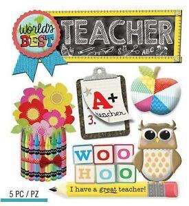 TEACHER School  - Jolee's Boutique Scrapbook Sticker
