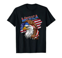 Cool Gift Eagle Mullet TShirt 4th of July American Flag Merica Tee 100% Cotton