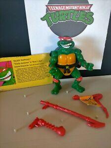 Vintage TMNT Teenage Mutant Ninja Turtles figure TALKIN RAPHAEL rare 1991