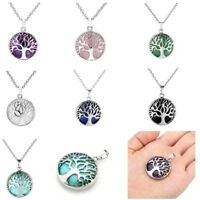 Tree Of Life Chakra Gemstone Amethyst Rose Quartz Pendant Fit Necklace Gifts