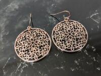 Lovely Not Yet Vintage Jewellery Gold-tone Discs Drop Hook Earrings