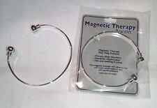 2 MAGNETIC SILVER TONE BANGLE BRACELET magnet JL374 natural healing bracelets