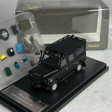 1/64 Master Land Rover Defender 110 Glossy Matt Black