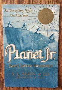 Antique Planet Jr. Farm And Garden Implements Catalog c. 1910