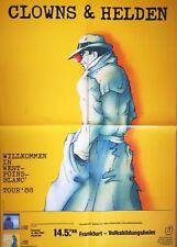CLOWNS & HELDEN 1988 FRANKFURT - orig.Concert Poster - Plakat F/U 1227