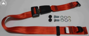 Static Lap Belt for Vauxhall Manta A, Manta B up To '81, Red 11 13/16in
