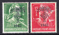 GERMANY B281-B282 AFRIKAKORP 1942 OVERPRINT OG NH U/M F/VF TO VF