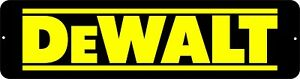 """Dewalt"" Mechanic Gas Oil Auto Power Tools Toolbox Garage aluminum novelty sign"