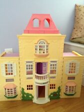 Fisher Price Loving Family Twin Time Grand Mansion Folding Doll House w/ Awnings