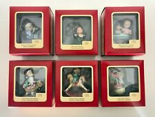 Lot of 6 Vintage Carlton Cards Heirloom Hallmark First Christmas Ornaments New