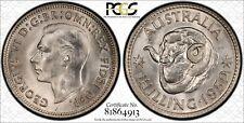 Australia 1952 Melbourne Shilling PCGS MS64 lot 0199
