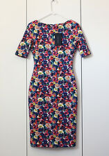 Rare!!! Size M - ZARA FLORAL FLOWER ORIENTAL PRINT PRINTED PENCIL BODYCON DRESS