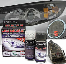 E-Tech Bike Car Glass Plastic Rear Tail Lamp Lens Black Smoke Tinting Spray Kit