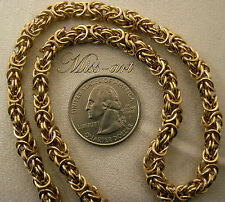 "BYZANTINE 5MM Chainmaille SOLID BRASS Blond Chain 18 1/4"" Necklace Miss-art"