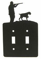 German Wirehaired Pointer Hunting Double Switch Plate