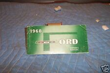 1968 Ford Car Owners Manual Orignal OEM Must See + More