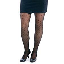 Berkshire TREND Swiss Dot Black Thigh-High Stockings Size C-D