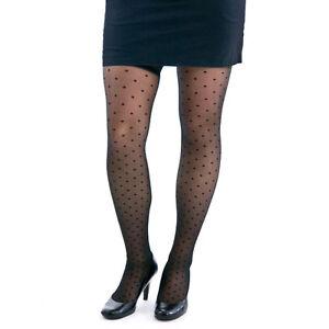 Berkshire TREND Swiss Dot Black Thigh-High Stockings Size A-B