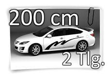 200cm Seitenaufkleber Stripe Carstyling Tuning Autotattoo Aufkleber Sticker JDM