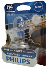H4 PHILIPS Racing Vision lampe automobile +150% P43t 1 ampoules 12342RVB1