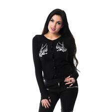 Vixxsin Skull Crow Cardigan Ladies Black Goth Emo Punk Cosplay Casual Wear Medium