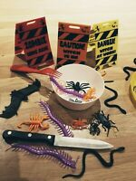 24 Creepy Crawlies Table Setting Halloween Spider Beetle Pretend Fake Decoration