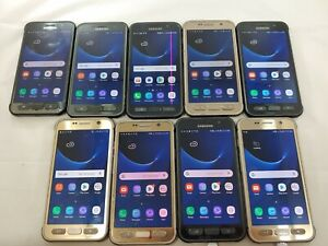LOT of 9 Samsung Galaxy S7 Active G891A GSM Unlocked Smartphone Assorted  #A054L