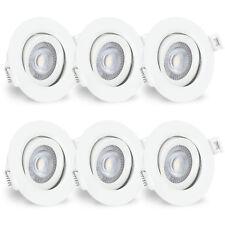 linovum® 6x LED Einbaustrahler rund schwenkbar 230V 5W 2700K mit Kabelanschluss