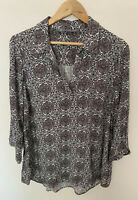 KATIES Ladies Long Sleeve Collared Relaxed Shirt Soft Size 14 Viscose