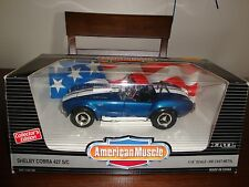 SHELBY COBRA 427 S/C BLUE ITEM# 7386 (1993) AMERICAN MUSCLE BY ERTL