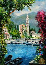 LAKE COMO ITALY Lombardy Lakes Region Ltd Edition ACEO Print Art YARY DLUHOS