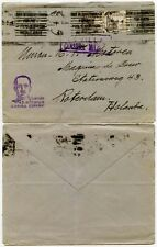 WW2 CENSORED SPAIN AIRMAIL to HOLLAND 1940 FRANCO PATRIOTIC