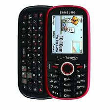 GOOD!!! Samsung INTENSITY u450 RED Camera QWERTY CDMA Slider VERIZON Cell Phone