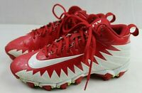 NIKE ALPHA Mens Athletic Red/White Football Cleats Size 6.5 Medium