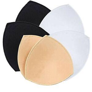 3 Pairs Bra Cup Pad Insert Triangle Bikini Underwear Sport Removable
