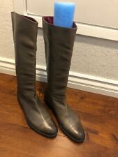 Robert Clergerie Paris women high knee leather olive green Womens boot Size 9.5B