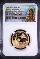 2019 S Proof Native American Mary Ross NGC PF70 ER Dollar from mint 10-coin set
