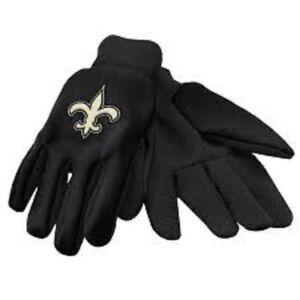 New Orleans Saints NFL Black Utility Gloves Work or Winter