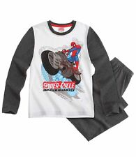 Marvel Ultimate Spiderman Pyjama Schlafanzug lang weiß/grau Gr.140