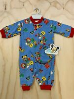 VTG DISNEY BABIES NB-6M 1984 MICKEY MOUSE DONALD DUCK ONE PIECE ROMPER NWT