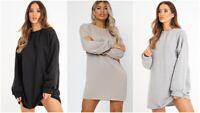 UK Womens Ladies Oversized Baggy Loose Pullover Sweatshirt Coat Jumper Dress Top