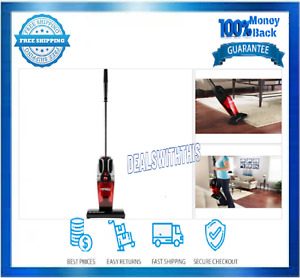 Eureka Quick-UP Bagless Stick Vacuum with Motorized Brush Roll, 169J, Red