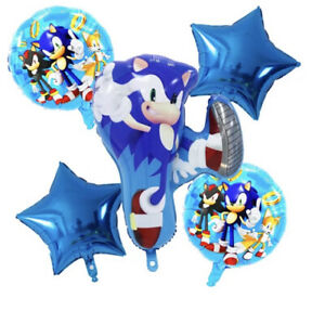 Sonic The Hedgehog Helium Foil Balloon Birthday Party Decoration SET OF 5 PCS