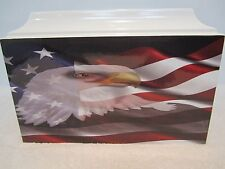 401 Patriotic Military Memorial Cremation Urn with Free Medal and plate